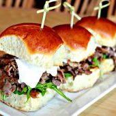 Shaved Prime Rib Sliders