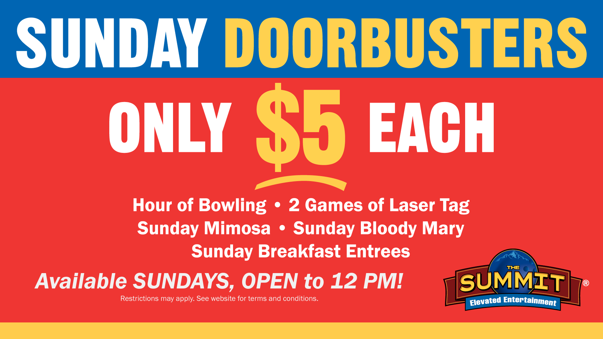 Sunday Doorbusters