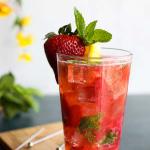 strawberry-lemon-mojito